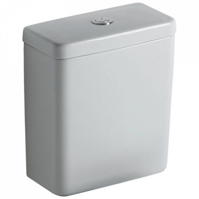 Rezervor WC Ideal Standard Connect CUBE, 3/6 L, dubla actionare, alimentare inferioara