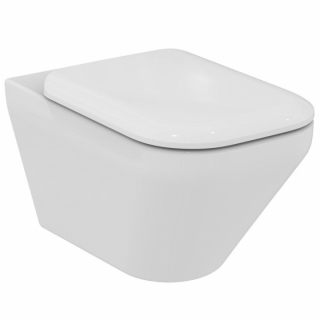 Vas WC suspendat cu capac soft-close Ideal Standard Tonic II Aquablade,36x56 cm