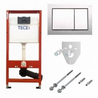 Set PROMO rezervor incastrat cu cadru si clapeta cromata TECE Base 4 in 1