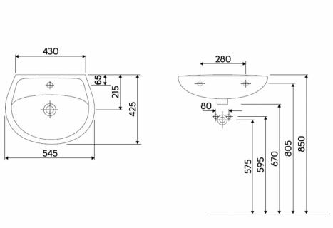 Lavoar Kolo Idol,55x42 cm