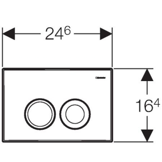 Clapeta actionare Dual-Flush, Geberit Delta 21, pentru rezervor incastrat, crom mat