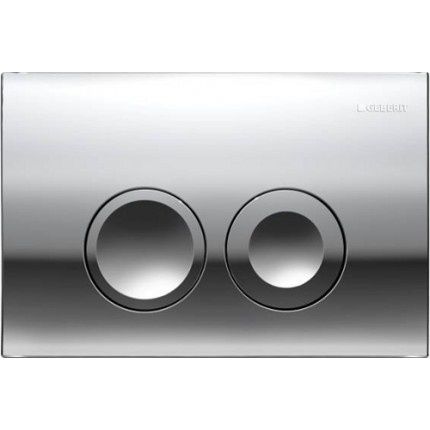 Clapeta actionare Dual-Flush,Geberit Delta 21 pentru rezervor incastrat crom lucios