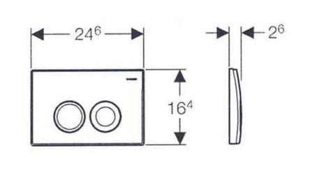 Clapeta actionare Dual-Flush Geberit Delta 21 pentru rezervor incastrat, alb alpin