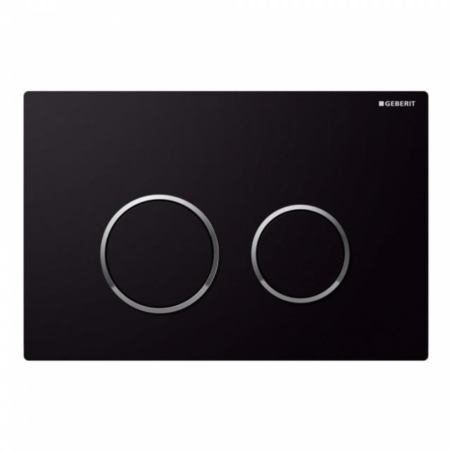 Clapeta actionare Dual-Flush,Geberit Sigma 20,pentru rezervor incastrat,crom negru