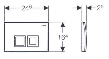 Clapeta actionare rezervor incastrat Dual-Flush,Geberit Delta 50 crom lucios