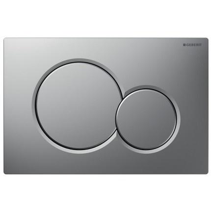 Clapeta actionare Dual-Flush,Geberit Sigma 01,pentru rezervor incastrat,crom mat