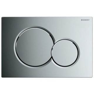Clapeta actionare rezervor incastrat Dual-Flush, Geberit Sigma 01, crom lucios
