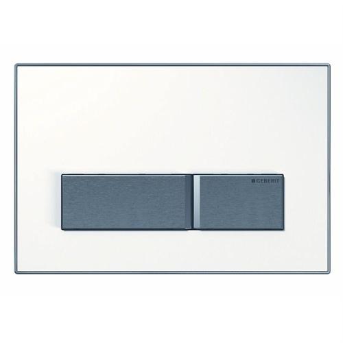 Clapeta actionare rezervor incastrat Dual-Flush, Geberit Sigma50, alb alpin
