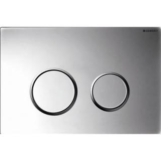 Clapeta actionare Dual-Flush,Geberit Sigma01 pentru rezervor incastrat culoare crom lucios/crom mat de la Geberit
