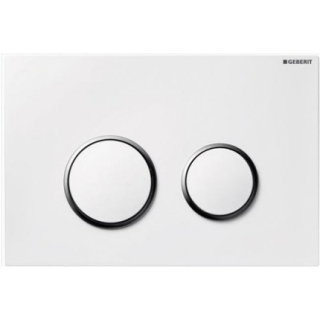Clapeta actionare Dual-Flush,Geberit Sigma 20,pentru rezervor incastrat,alb/crom lucios/alb de la Geberit