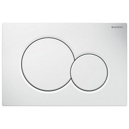 Clapeta actionare rezervor incastrat Dual-Flush,Geberit Sigma 01, alb alpin