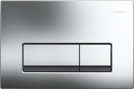Clapeta actionare Dual-Flush,Geberit Delta 51,pentru rezervor incastrat,crom lucios