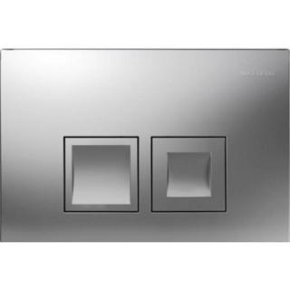 Clapeta actionare Dual-Flush,Geberit Delta 50,pentru rezervor incastrat,crom mat de la Geberit