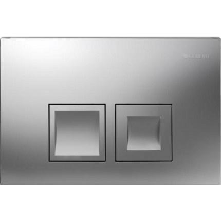 Clapeta actionare Dual-Flush,Geberit Delta 50,pentru rezervor incastrat,crom mat