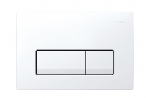 Clapeta actionare Dual-Flush,Geberit Delta 51 alb alpin pentru rezervor incastrat