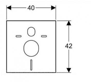 Garnitura fonoizolanta pentru vase wc si bideuri suspendate Geberit