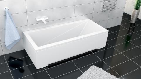 Cada rectangulara din acril Besco Modern 150x70 cm