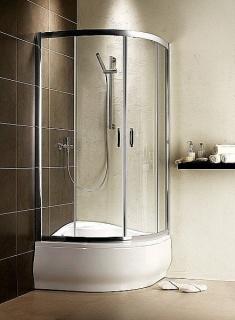 Imagine  Cabina De Dus Semirotunda Radaway Premium Plus A 1700, Usi Glisante,