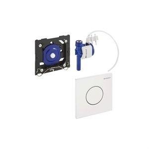 Dispozitiv pneumatic manual, pentru pisoar, Geberit Sigma 01, alb
