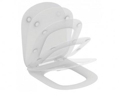 Capac WC Ideal Standard Tesi slim cu inchidere lenta