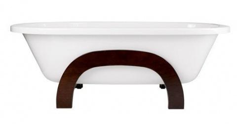 Cada freestanding Besco Gracja 160 x 75 cm compozit, cu picioare lemn
