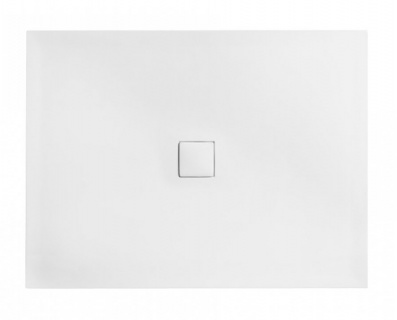 Cadita dus dreptunghiulara Besco Nox ultraslim 110x90xH3,5 cm compozit de la Besco