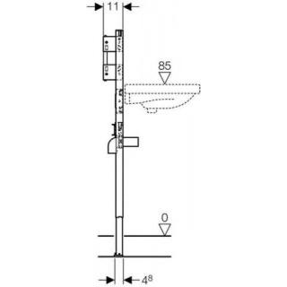 Cadru lavoar Geberit Duofix pentru fixarea bateriei in perete