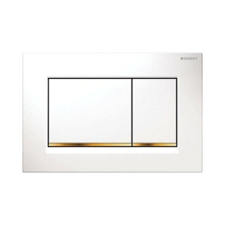 Clapeta dubla-actionare rezervor Geberit Sigma30 alb-auriu de la Geberit
