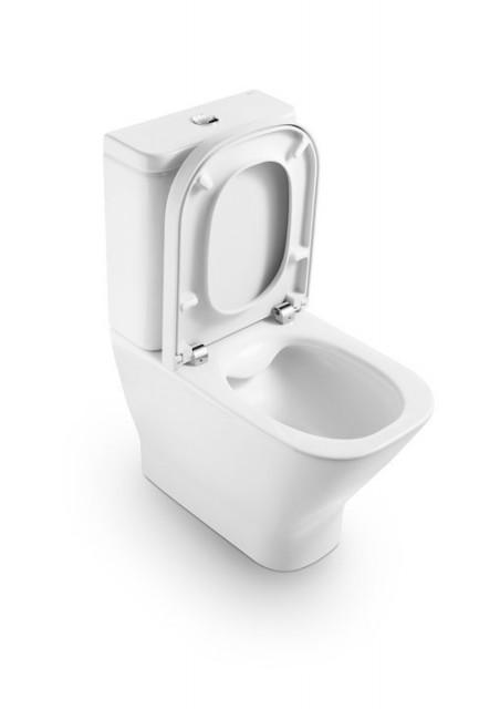 Vas WC Roca The Gap back-to-wall cu Clean Rim pentru rezervor asezat