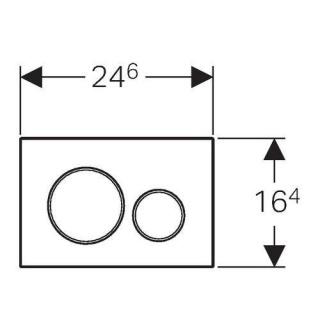 Clapeta actionare rezervor Wc incastrat,Geberit Sigma 20,alb/crom