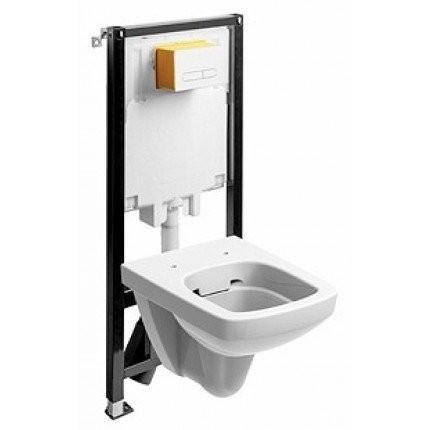 Set PROMO vas wc suspendat Kolo Nova Pro Rimless M33123 cu rezervor si cadru Kolo Slim 2