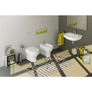 Set PROMO complet lavoar, bideu, vas wc, si rezervor incastrat Ideal Standard Tesi imagine
