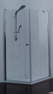 Cabina dus Sanotechnik Sanoflex cu o parte fixa si o usa batanta 100x100xH195 cm