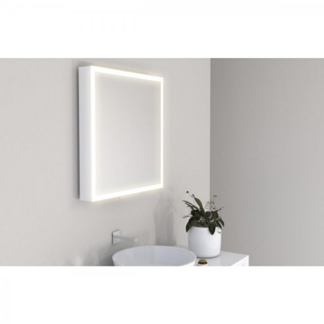 Oglinda extensibila ergonomica Miior cu led 78 x 60 x 7-37 cm