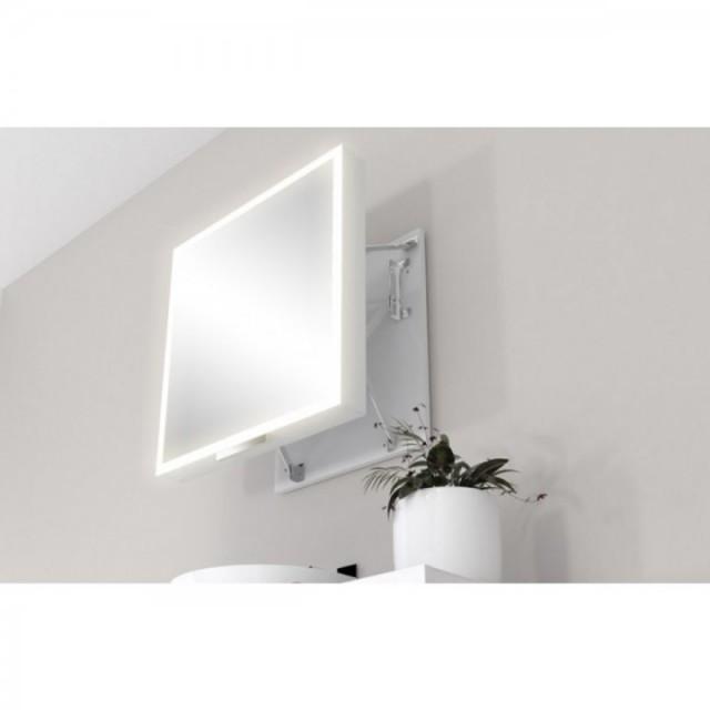 Oglinda extensibila ergonomica Miior cu led 58 x 60 x 7-37 cm