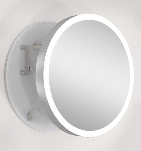 Oglinda extensibila ergonomica Miior cu led cu raza de 60 x 7-31 cm