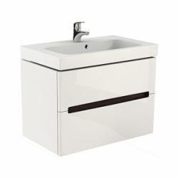 Set mobilier Kolo Modo cu dulap baza alb si lavoar 80 cm