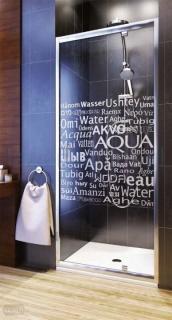 Usa de nisa batanta Aquaform Nigra Water 90 x 185 cm pentru montare in nisa sau cu perete de sticla