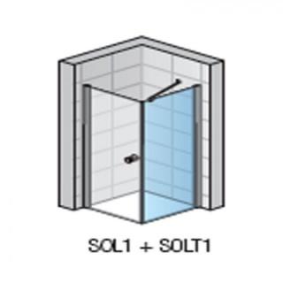 Perete lateral SanSwiss Solino SOLT1, 75x198,4 cm