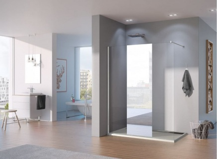 Imagine Promo Cabina Dus Walk-in Sanswiss Pur Oglinda Pdt4p, 120 X H200