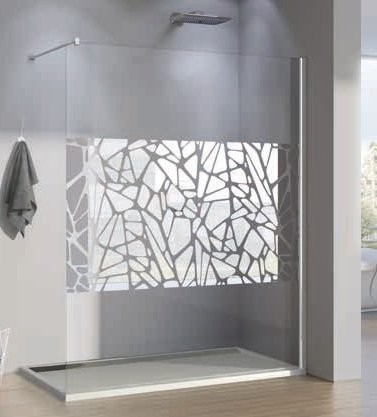 PROMO Cabina dus Walk-in SanSwiss Pur Stone PDT4P, 140 x H200 cm