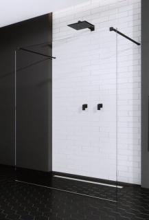 Imagine  Cabina De Dus Walk-in Radaway Modo New Black I 150 Cm, Profil
