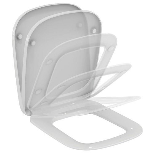 Capac wc compact Ideal Standard cu inchidere lenta Esedra 41x36 cm