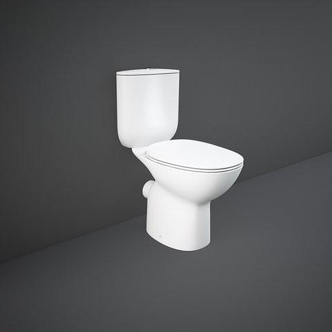 Vas wc Rak Ceramics Morning Rimless cu evacuare laterala 64X36.5 cm