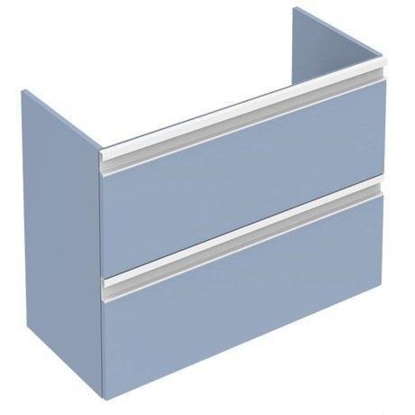Mobilier baza Ideal Standard Tesi 60 x 49 x 44 cm, cu doua sertare, albastru