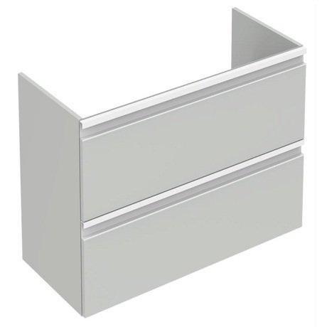 Mobilier baza Ideal Standard Tesi 60 x 49 x 44 cm, cu doua sertare, gri