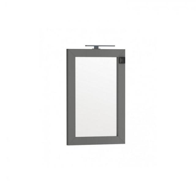 Oglinda Oristo Wave 60 x 90 cm cu iluminare si priza electrica, gri