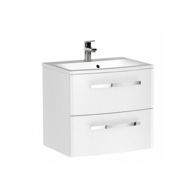 Set PROMO mobilier cu lavoar Oristo Wave 60 x 45 x 53 cm alb lucios
