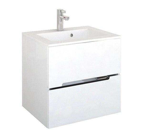 Set PROMO mobilier cu lavoar Oristo Silver 60 x 45 x 55 cm alb lucios