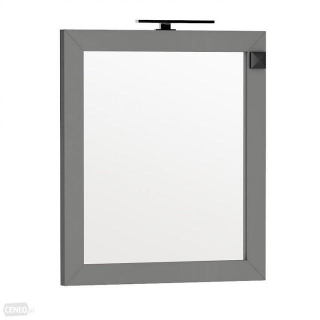 Oglinda Oristo Wave 80 x 90 cm cu iluminare si priza electrica, gri